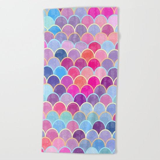 Watercolor Lovely Pattern VIII Beach Towel