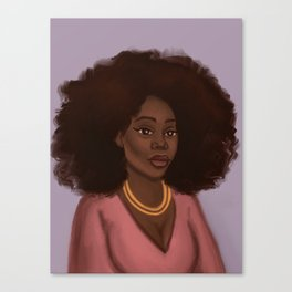 Kiara African American Woman  Canvas Print