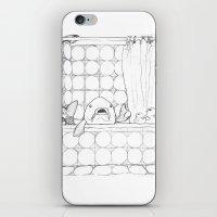 bathroom iPhone & iPod Skins featuring The Bathroom Monologue by Shany Atzmon