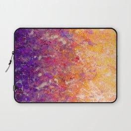 Abstract Art in Sunset Palette Purple Laptop Sleeve