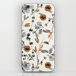 Floral pattern Flowers iPhone Skin