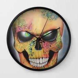 Mrs. skull Wall Clock