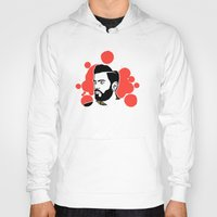 hipster Hoodies featuring hipster by mark ashkenazi
