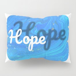 Hope Illustration Marbled Watercolor Pillow Sham