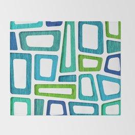 Mid Century Boxy Abstract Throw Blanket