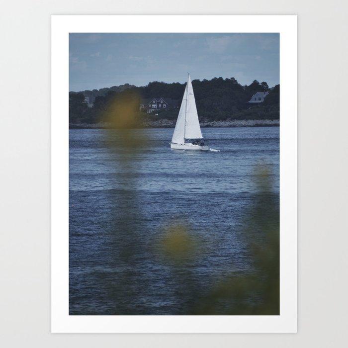 Sailboat In Maine Art Print
