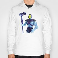 skeletor Hoodies featuring Polygon Heroes - Skeletor by PolygonHeroes