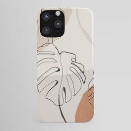 Minimal Abstract Art- Monstera iPhone Case