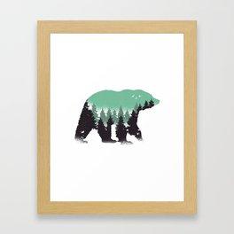 Bear Landscape Framed Art Print
