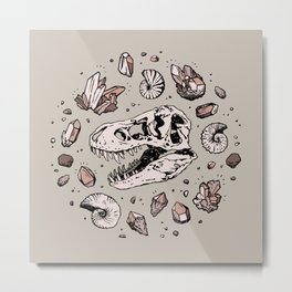 Geo-rex Vortex | Rose Quartz Metal Print