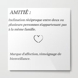 Amitié Metal Print