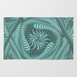 Mint green stripe design Rug