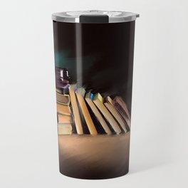 Coffee Books// Art Print Travel Mug