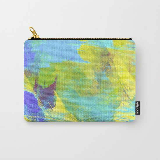 Hint Of Summer - Abstract, textured painting Carry-All Pouch