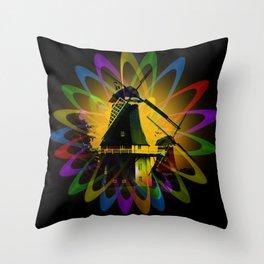 Windmills - Greetsiel Throw Pillow