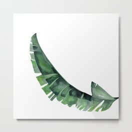 Tropical Leaf Green Metal Print
