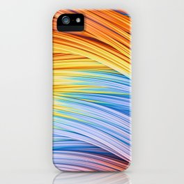 Pastels at Dawn, Abstract Strands. iPhone Case
