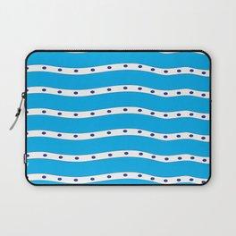 Coastal Pattern Blue Ocean Laptop Sleeve