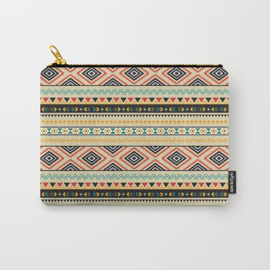 Tribal #3 * Ethno Ethnic Aztec Navajo Pattern Boho Chic Carry-All Pouch