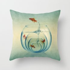 Goldfish Bowl Throw Pillow