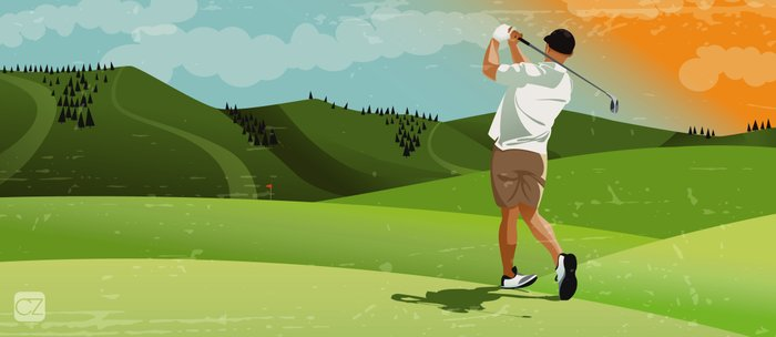 Mountain Golfer Coffee Mug