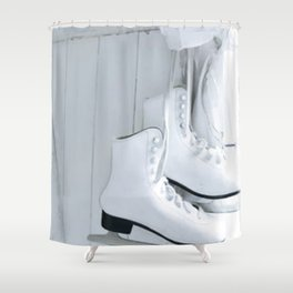 Elegant Skates Shower Curtain