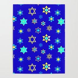 Hanukkah Holidays Celebration of Miracles Pattern Poster