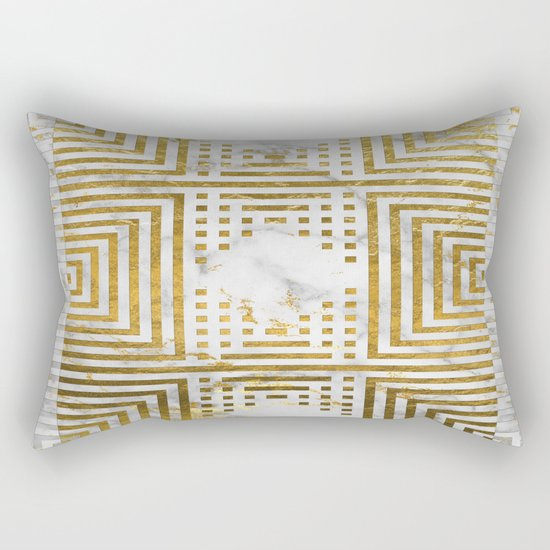 Marble and Gold Pattern #2 Rectangular Pillow