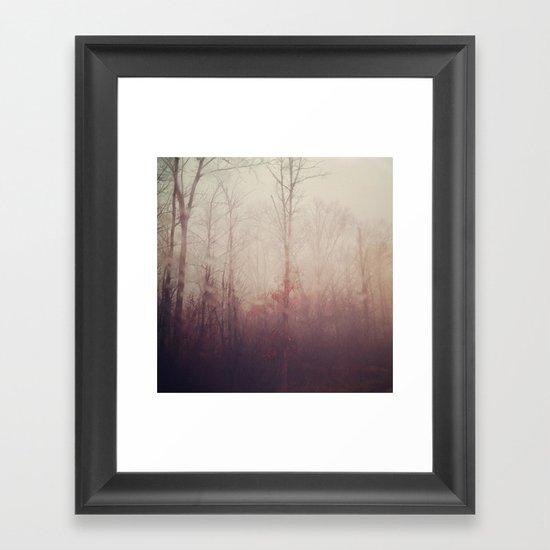 Winter Haze Framed Art Print
