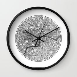 London Map Universe Wall Clock