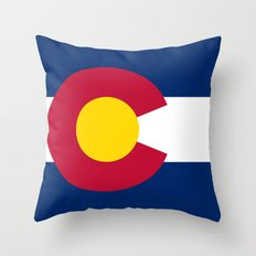 Colorado State Flag Throw Pillow