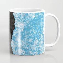 Blue Ice torn & Black grunge Coffee Mug