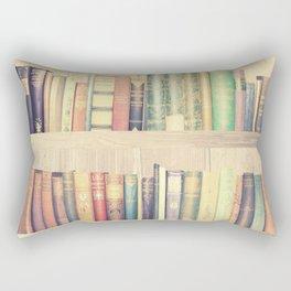 Dream with Books - Love of Reading Bookshelf Collage Rectangular Pillow