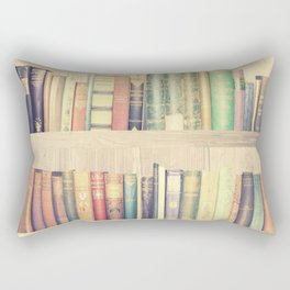 Dream with Books - Love of Reading Bookshelf Collage Rectangular Pillow