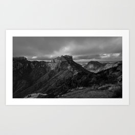 Top of Lost Mine Trail Mountaintop View, Big Bend - Landscape Photography Art Print