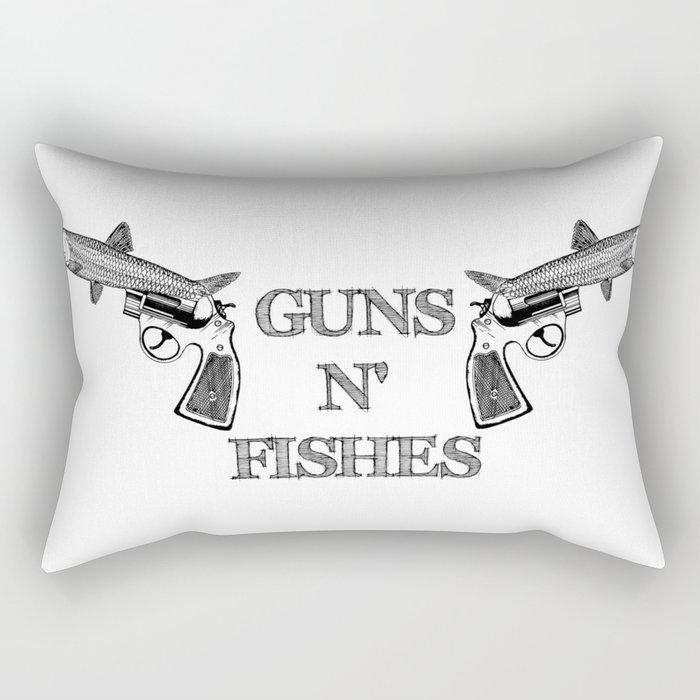 Guns n' Fishes Rectangular Pillow