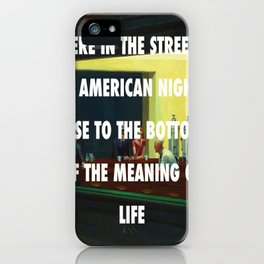 New York City Nighthawks iPhone Case