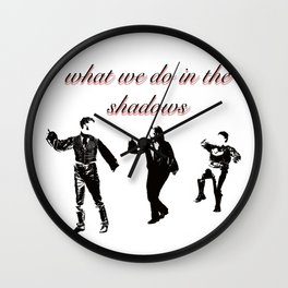 What We Do in the Shadows (Minimalist Poster) Wall Clock