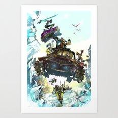 Borderlands Catch a Ride! Art Print