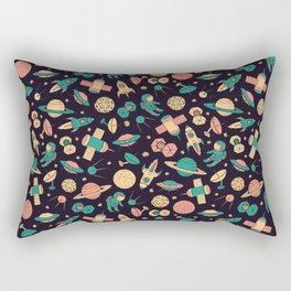 Retro Space Pattern Rectangular Pillow