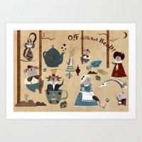 wonderland Art Prints featuring Wonderland by Liam Smith