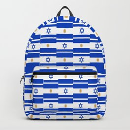 Mix of flag: Israel and Argentina Backpack