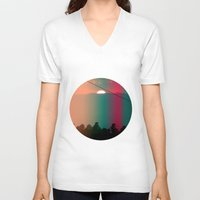 portugal V-neck T-shirts featuring Portugal Mountains by Joana Sa