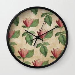 Vintage Watercolor Tulip in Pink Wall Clock