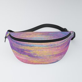 Sunset - abstract pink pastel seascape Fanny Pack