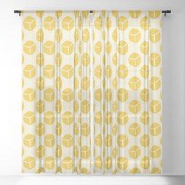 Mango Cubes Sheer Curtain