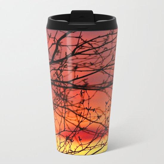 Spring Sunset Metal Travel Mug