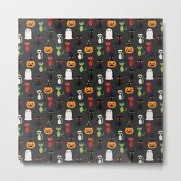 Halloween Cats Metal Print