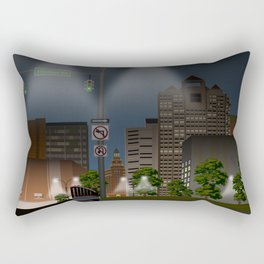 Elm City Green Rectangular Pillow