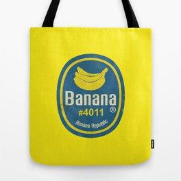 Banana Sticker On Yellow Tote Bag
